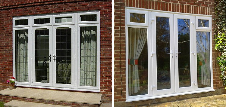 Double glazed doors french doors patio doors composite for Patio doors with side windows