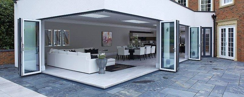 800 BIFOLD corner door no post