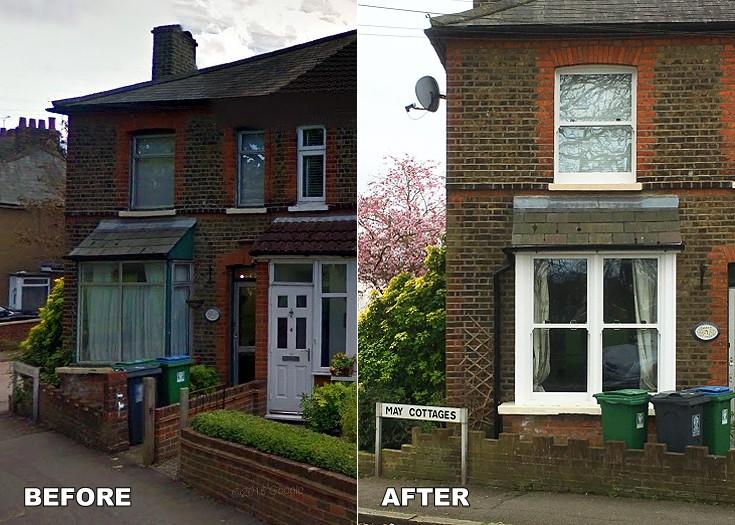 BEFORE & AFTER Watford Fields sash windows