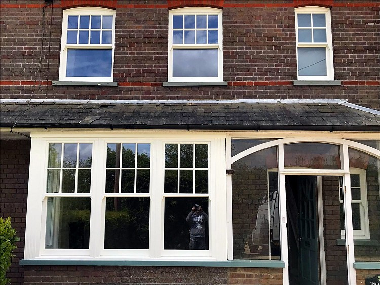 Ultimate Rose box sash windows installed by Harp.