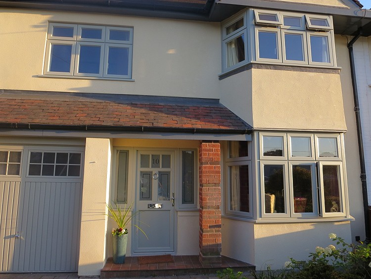 HOUSE Storm 2 & Ballingdon front door agate grey 750
