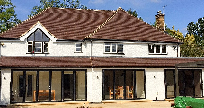 800 BIFOLD Shire Lane Chorleywood full rear elevation