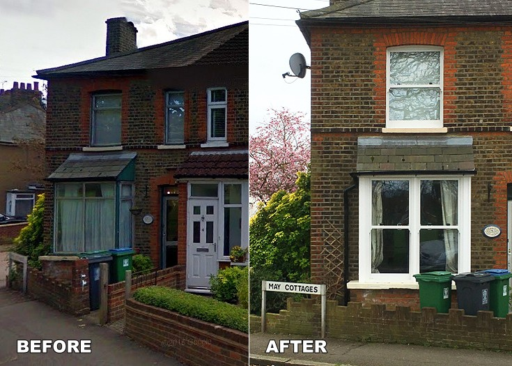 BEFORE & AFTER Watford Fields sash windows